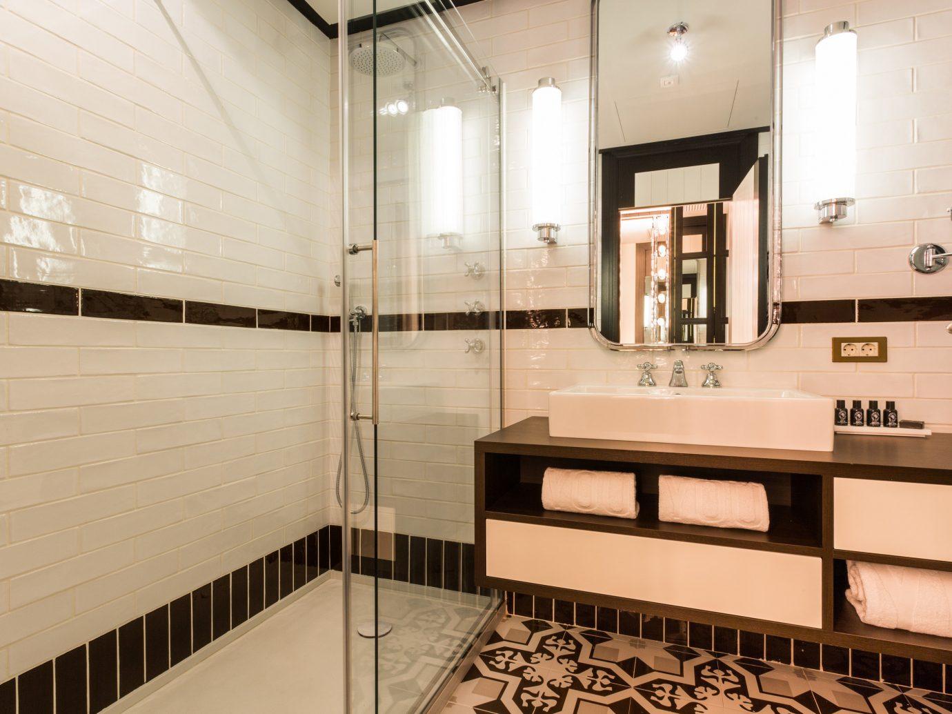 Hotels Madrid Spain indoor floor room property interior design home estate Design lighting bathroom Kitchen flooring apartment tiled tile