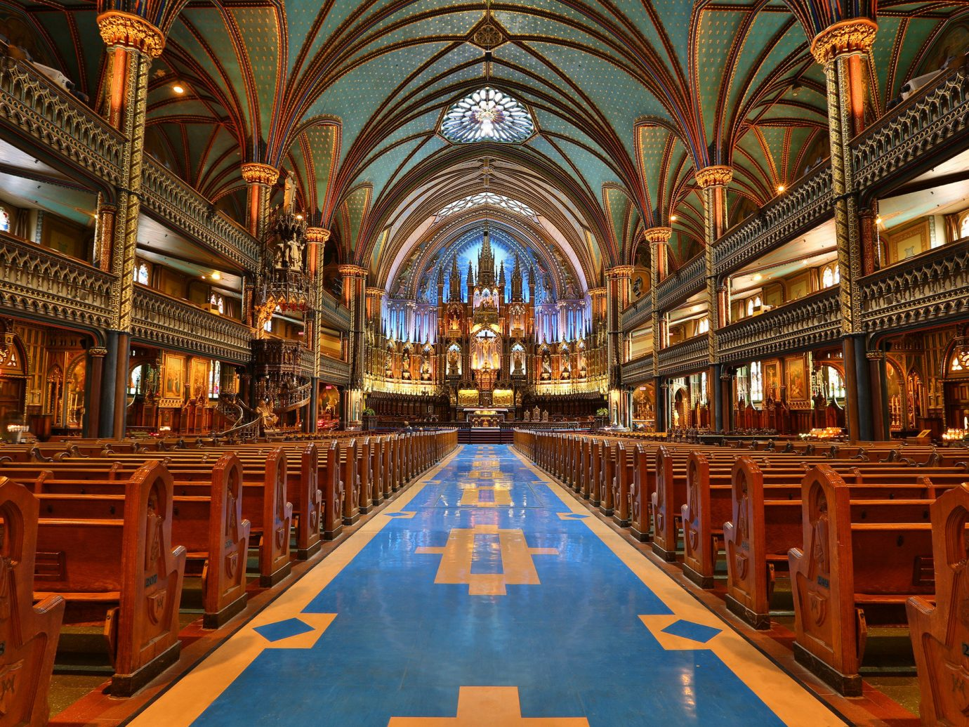 Canada Montreal Toronto Trip Ideas building indoor place of worship aisle Church cathedral