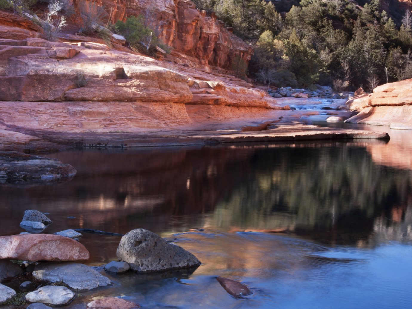 Trip Ideas outdoor Nature reflection water wilderness landform rock valley body of water tree River mountain season canyon landscape stream water feature autumn Lake Sea geology material park stone