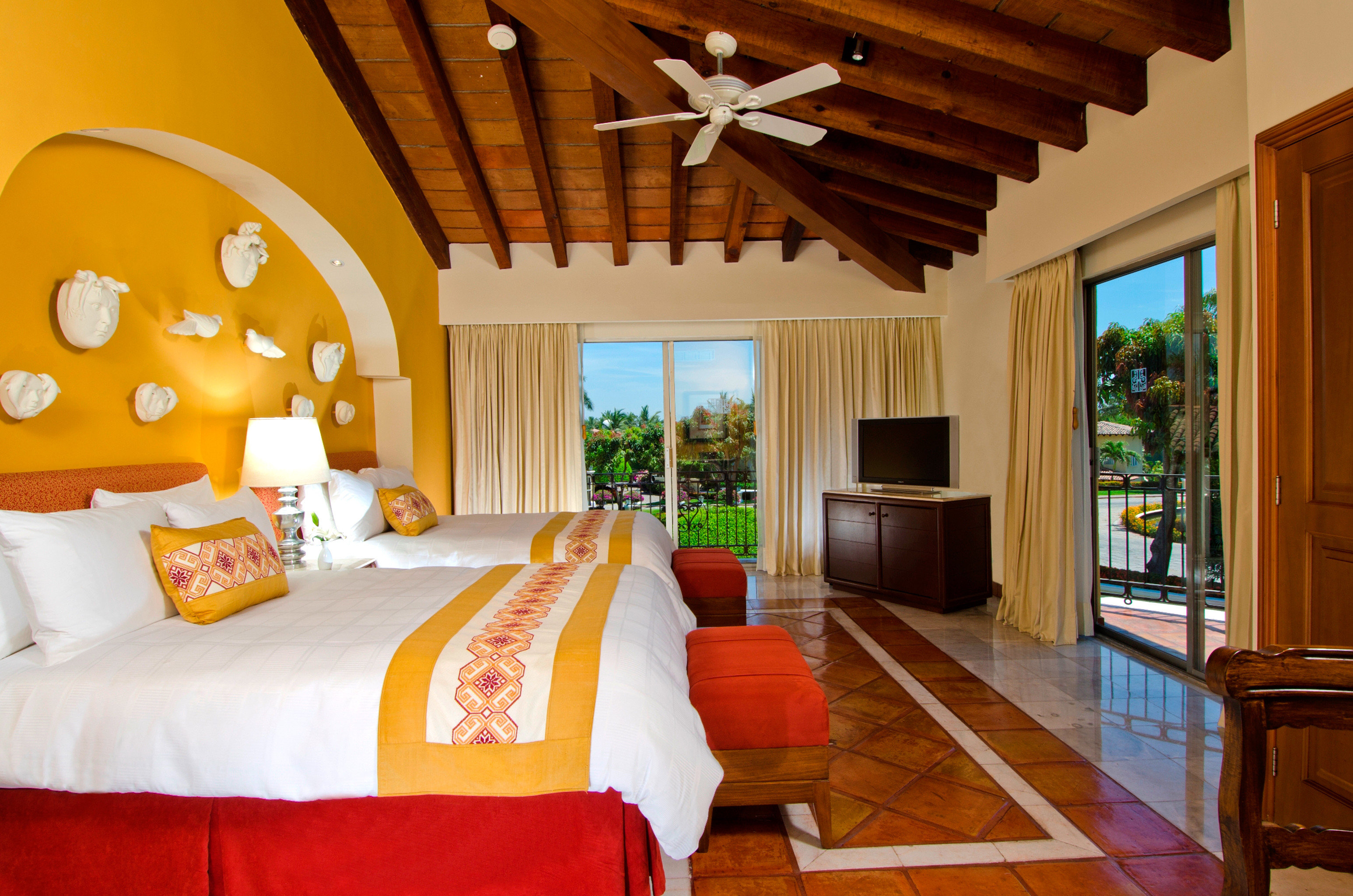 All-Inclusive Resorts Bedroom Hotels Patio Scenic views Suite indoor floor wall room property Resort estate cottage Villa home living room real estate interior design farmhouse furniture