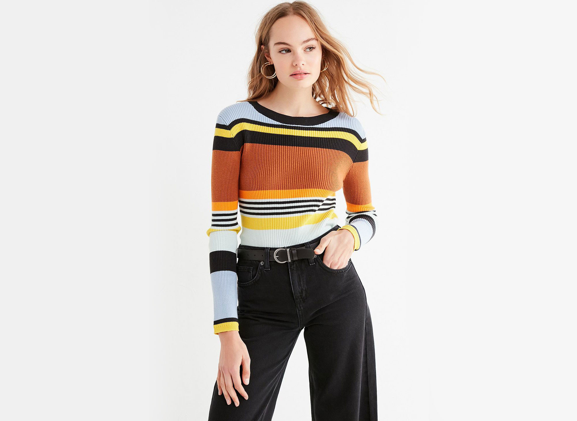 Style + Design Travel Shop clothing person yellow sleeve shoulder standing joint fashion model trouser neck t shirt product waist sweater posing