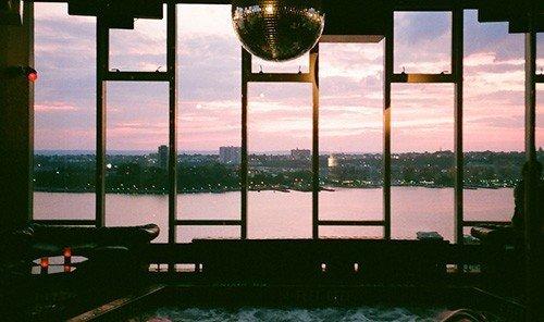 Hotels Ocean light reflection window lighting screenshot glass overlooking day