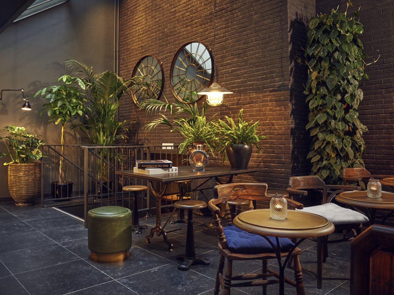 Amsterdam Hotels The Netherlands room Lobby restaurant estate interior design home dining room lighting Courtyard plant furniture