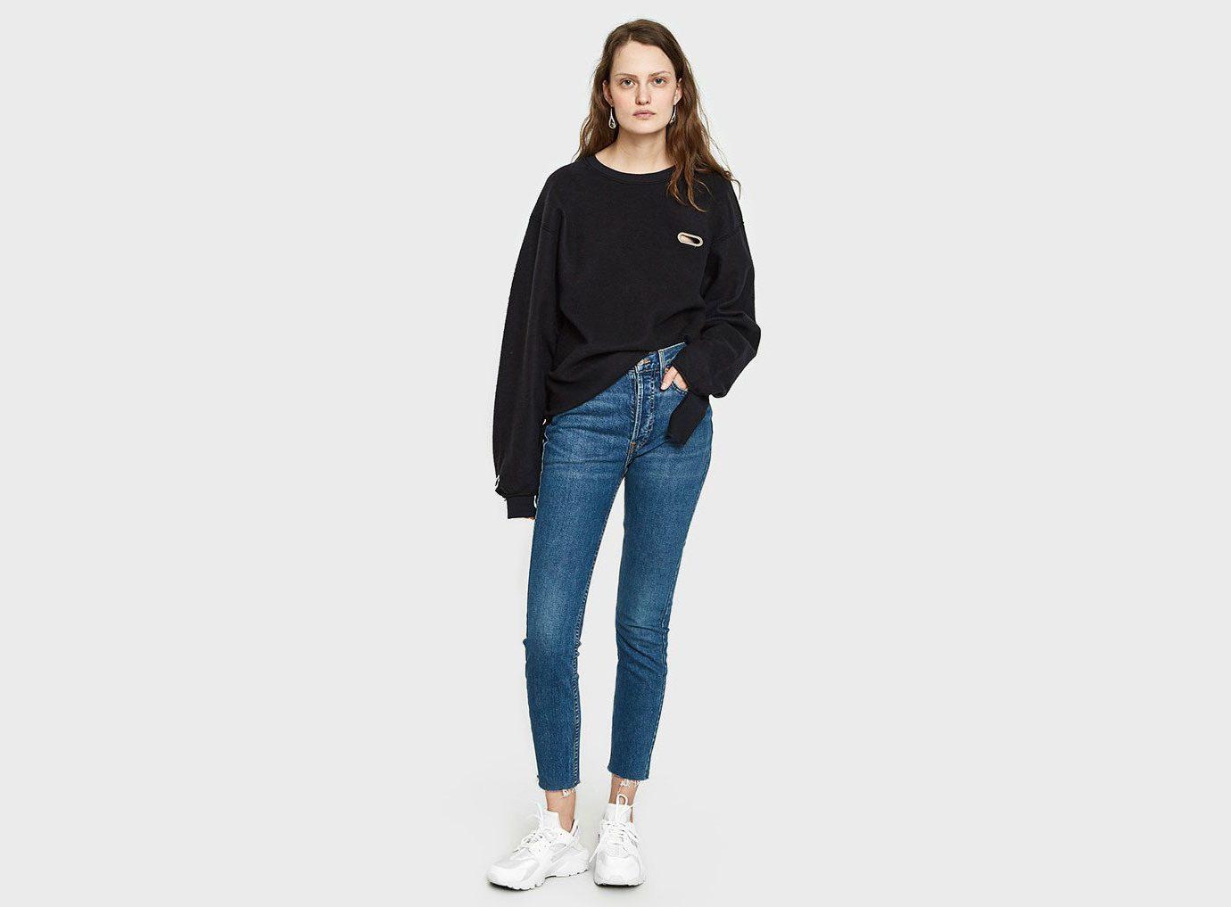 Packing Tips Style + Design Travel Shop clothing jeans shoulder denim sleeve joint fashion model electric blue neck waist trousers shoe pocket trouser
