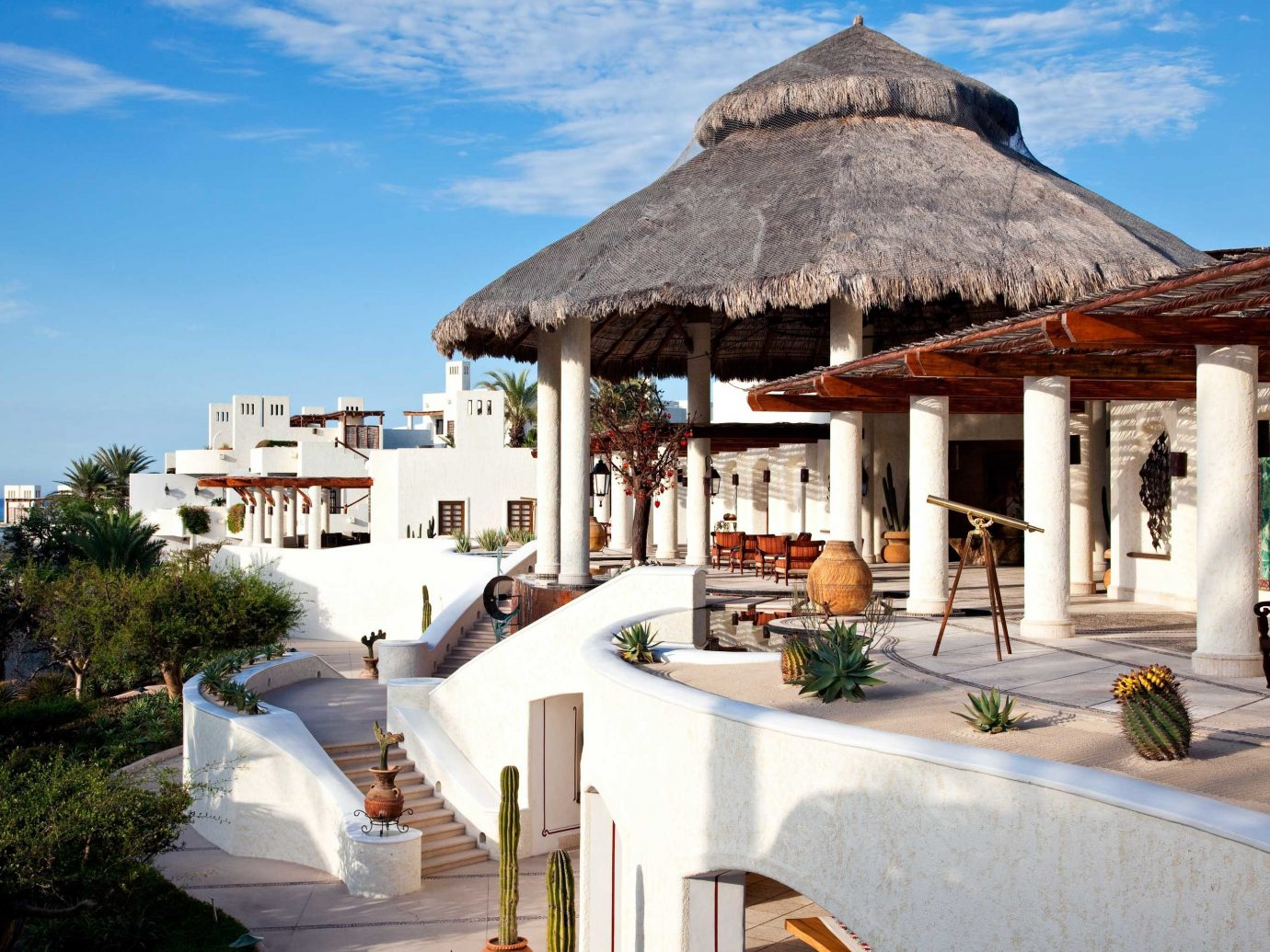 Beach Elegant Exterior Honeymoon Hotels Living Lounge Luxury Luxury Travel Mexico Modern Romance Romantic Tulum sky outdoor building property vacation house Resort estate home Villa tourism real estate restaurant cottage hacienda area Island