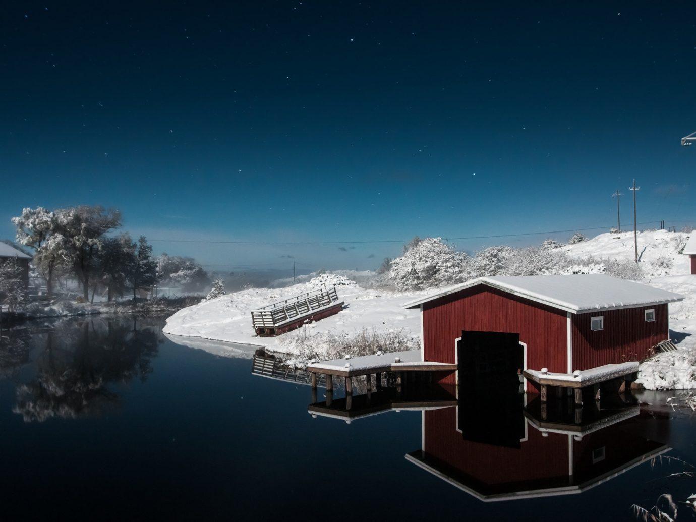 Finland Trip Ideas sky outdoor snow night Winter weather Nature screenshot moonlight arctic shore