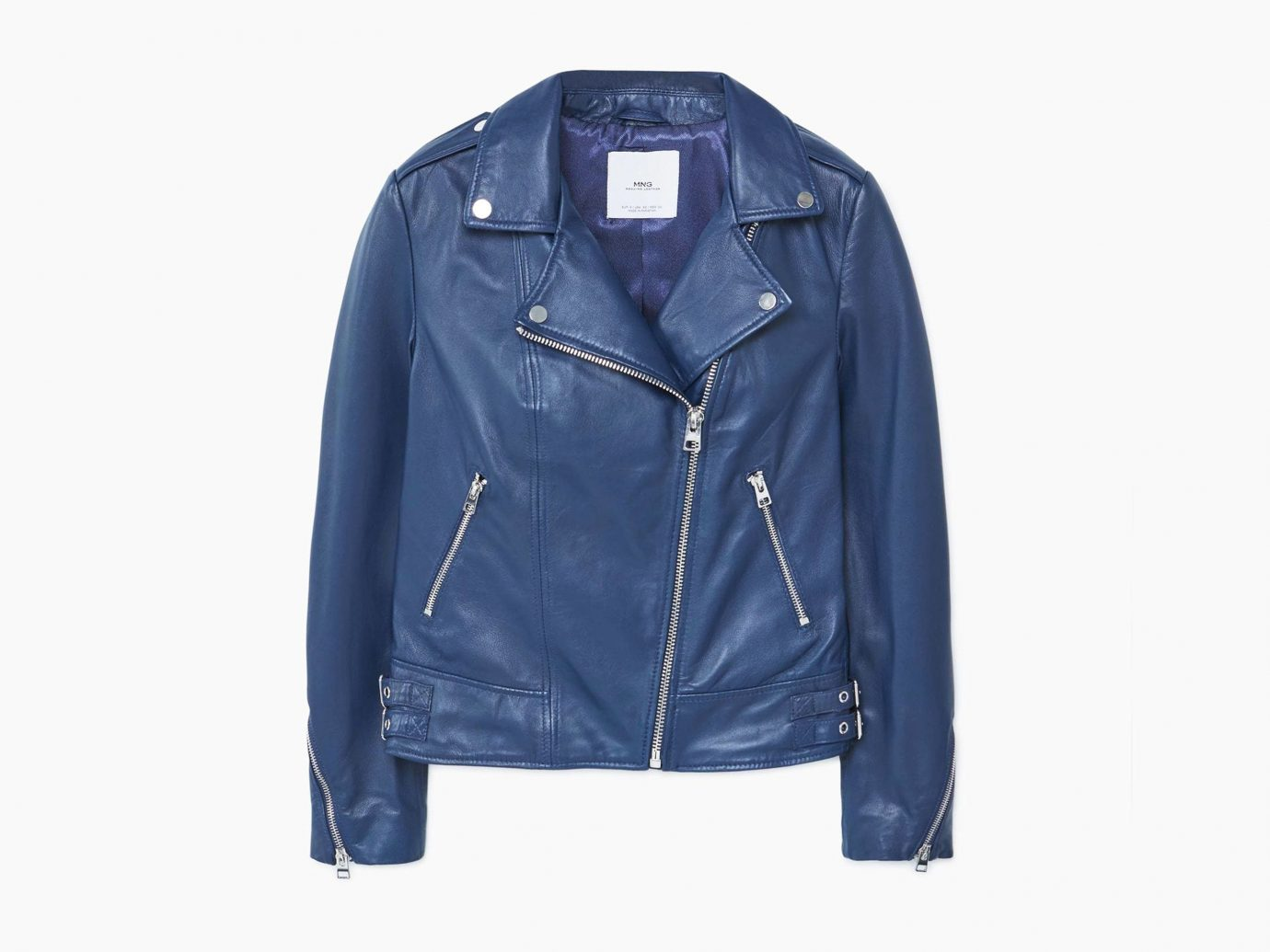 Style + Design person clothing denim jacket leather leather jacket suit wearing coat textile electric blue outerwear sleeve pocket material posing dressed
