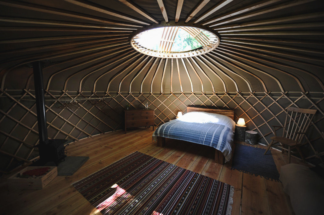 Glamping Outdoors + Adventure Trip Ideas indoor ceiling Architecture lighting daylighting wood interior design