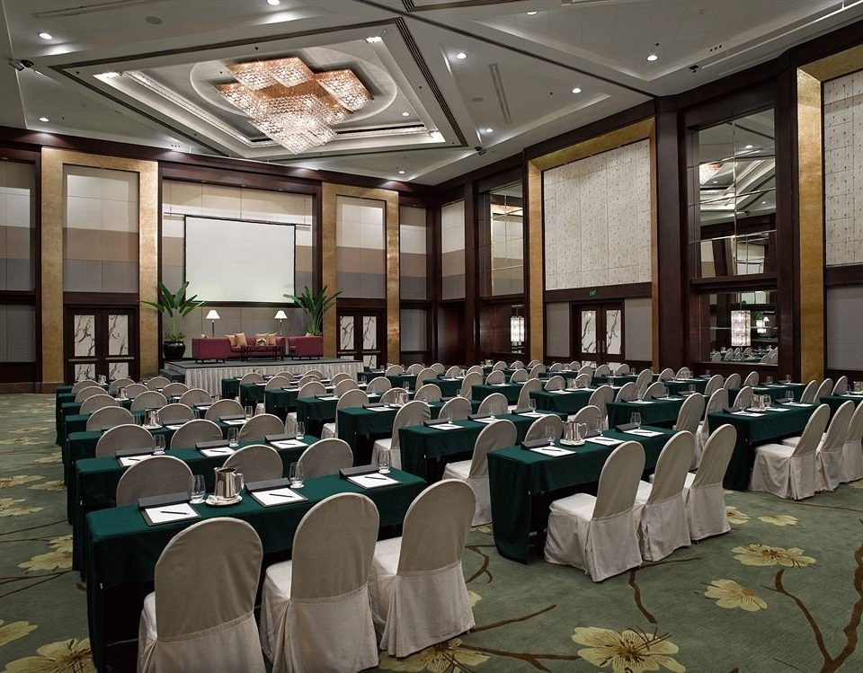 chair function hall conference hall auditorium banquet convention meeting convention center ballroom academic conference lined line arranged conference room