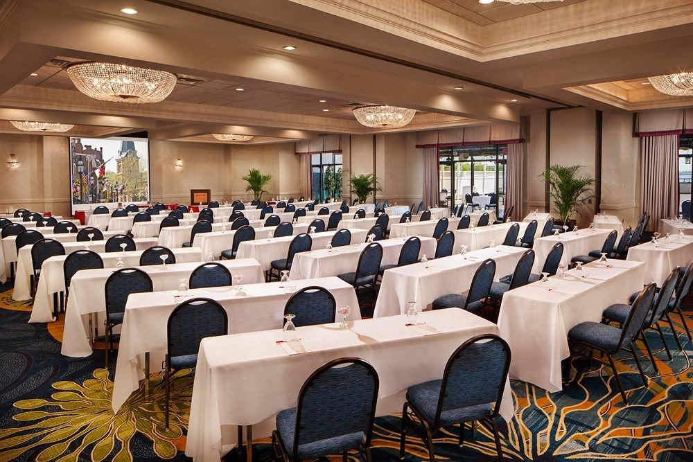 function hall conference hall scene auditorium meeting convention banquet convention center ballroom restaurant academic conference conference room arranged