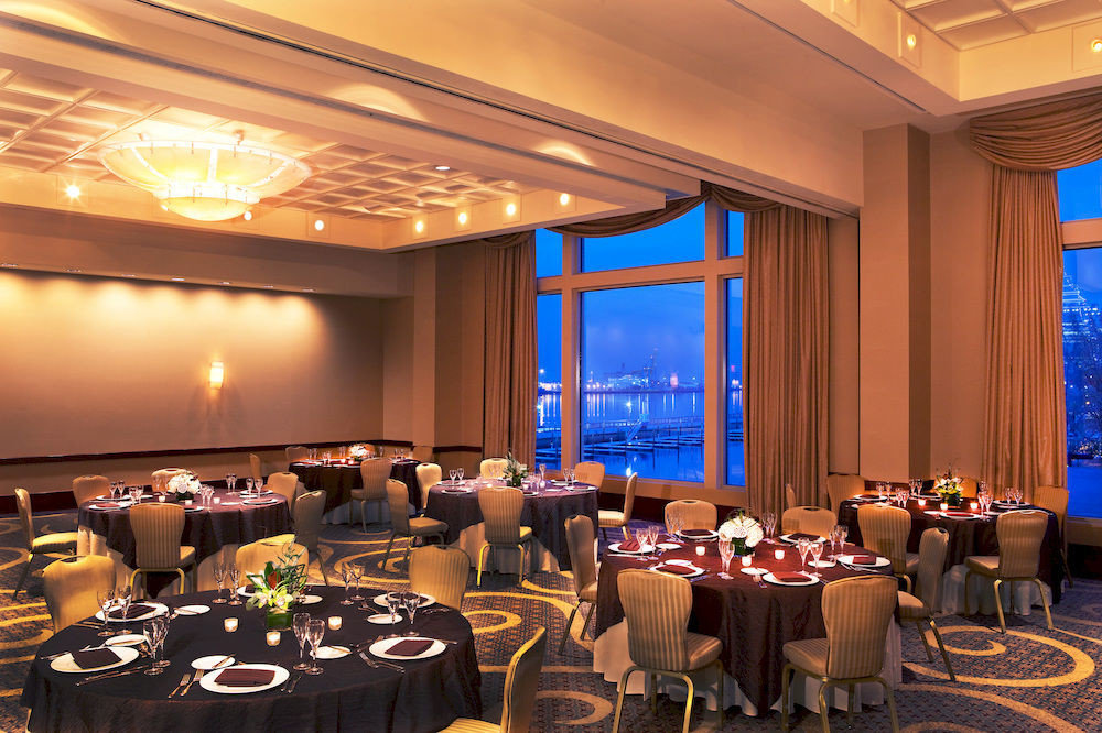 function hall conference hall convention academic conference auditorium banquet meeting convention center ballroom restaurant conference room dining table