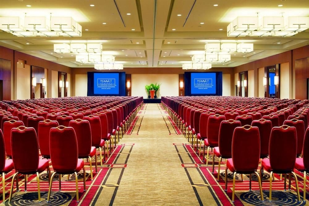 auditorium function hall red chair conference hall convention center banquet ballroom convention meeting row academic conference lined line hall