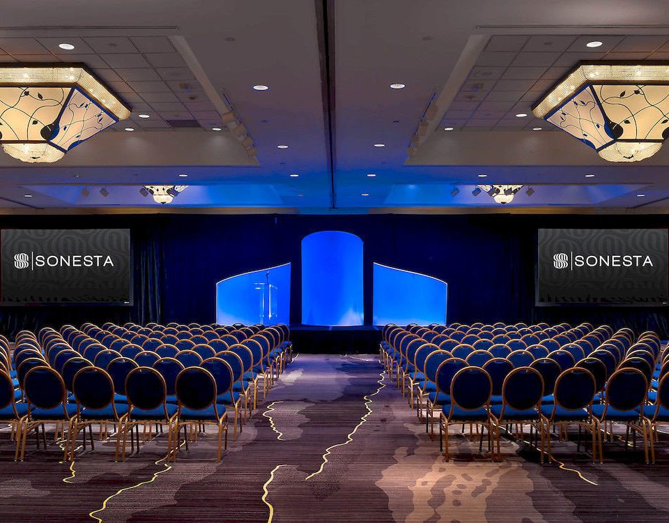 auditorium conference hall function hall stage theatre convention academic conference convention center ballroom blue colored