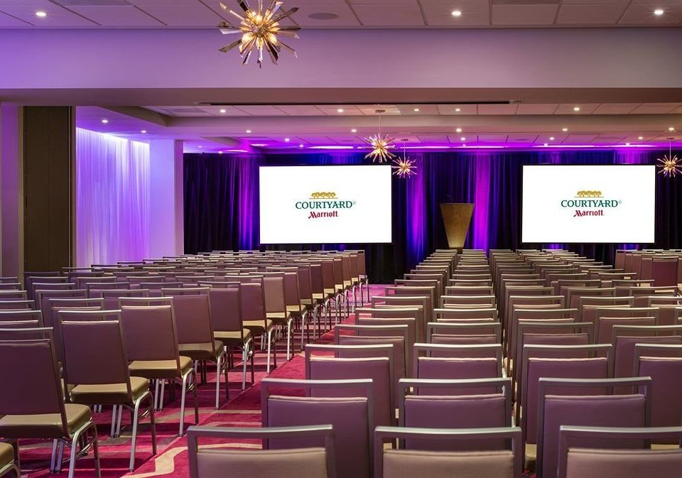 auditorium chair function hall conference hall convention convention center meeting academic conference ballroom lined line colored
