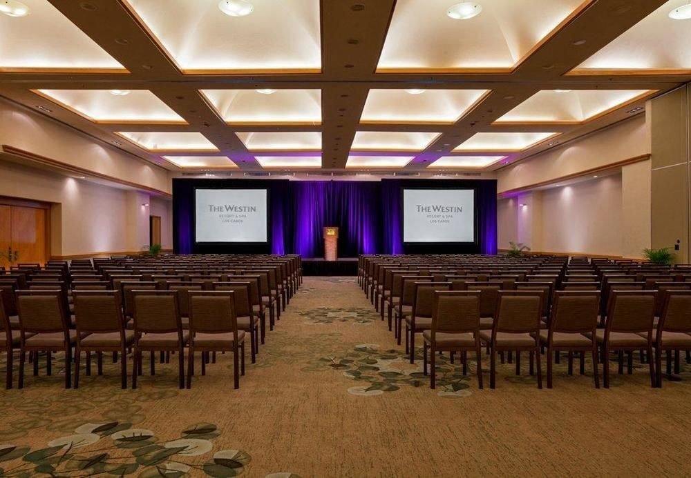 auditorium function hall chair conference hall convention center ballroom convention meeting lined academic conference empty line