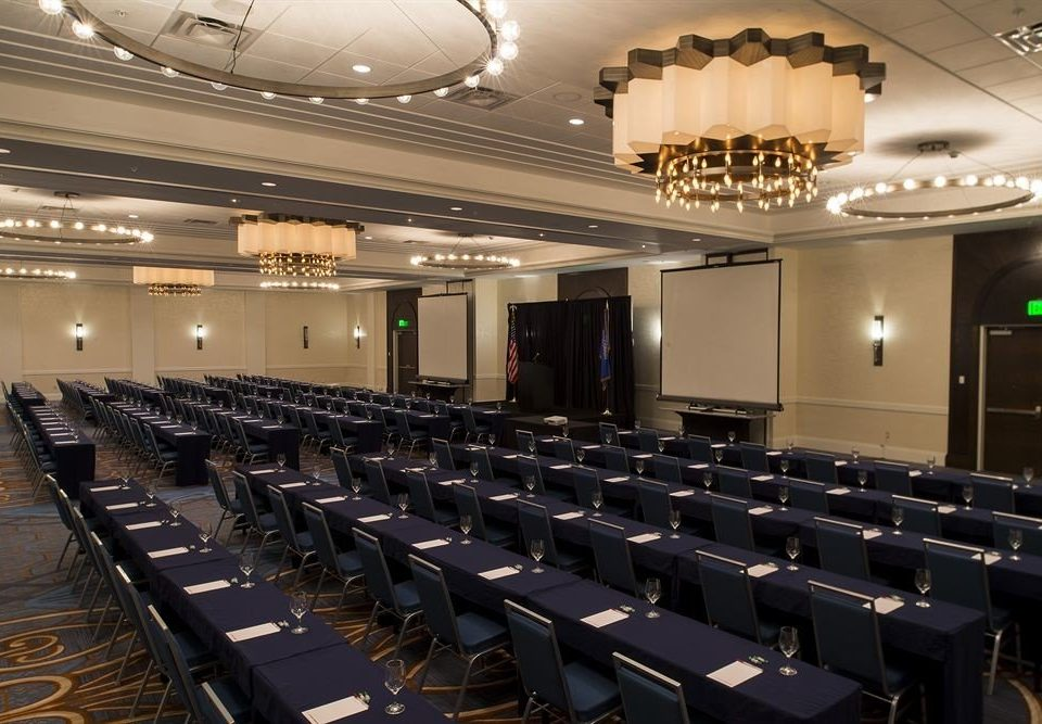 auditorium conference hall function hall convention convention center academic conference meeting ballroom theatre long hall line