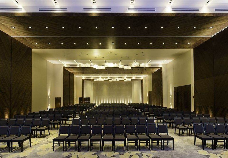 auditorium function hall conference hall performing arts center stage convention center convention theatre ballroom meeting academic conference empty hall lined