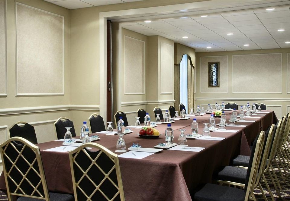 conference hall function hall meeting academic conference convention center convention ballroom auditorium restaurant dining table