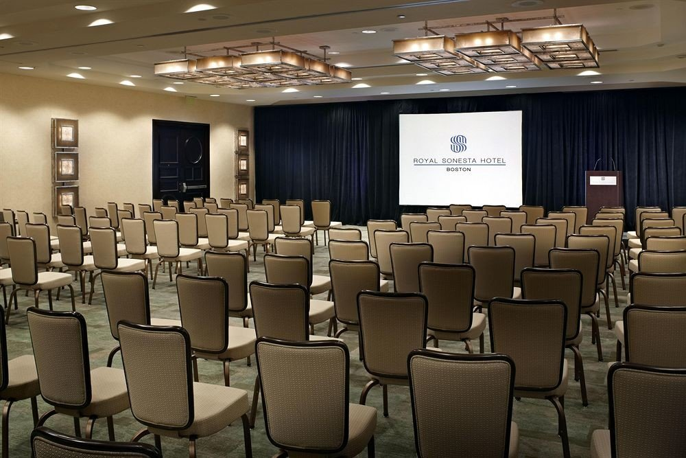 chair auditorium conference hall scene academic conference convention function hall meeting convention center classroom theatre set conference room