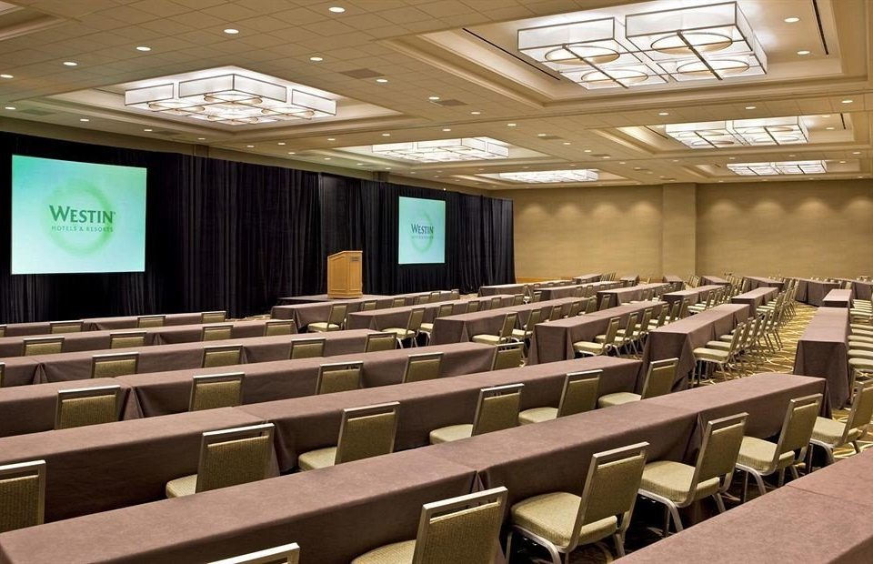 auditorium conference hall classroom row function hall convention center meeting lined seminar long convention store line academic conference