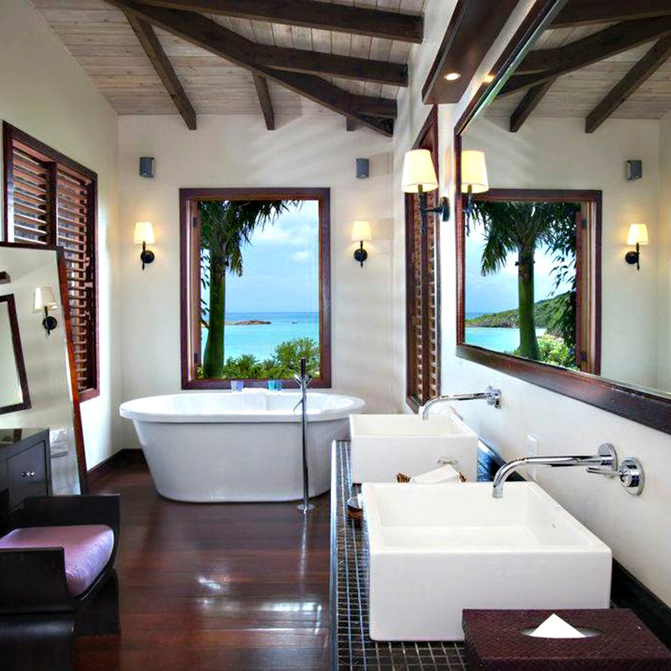 Adult-only All-inclusive Bath Beachfront Eco Hotels Luxury Romance Romantic bathroom property house home living room condominium Suite Villa Resort cottage