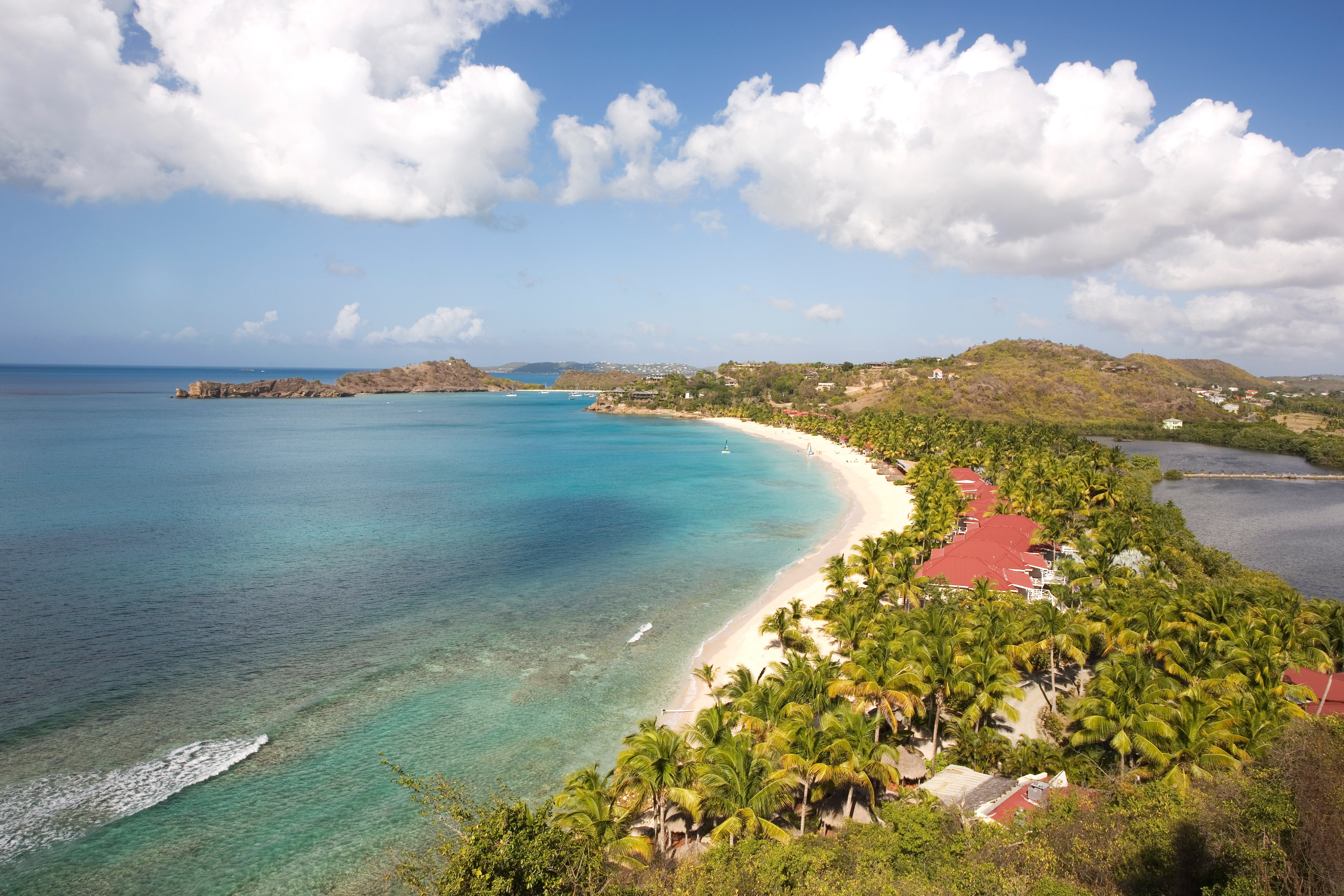 Adult-only All-inclusive Beach Beachfront Luxury Play Resort Scenic views sky water Nature Coast Sea shore Ocean horizon cloud cape cove cliff caribbean islet terrain Island reef Lake Lagoon overlooking clouds distance