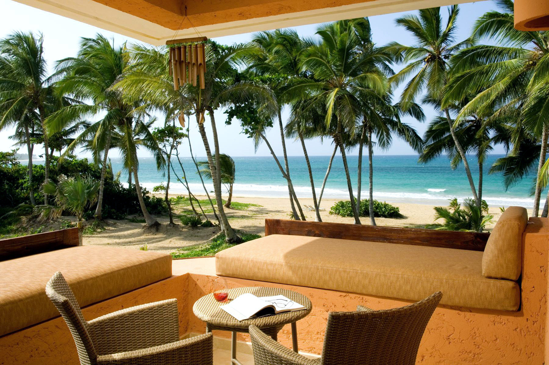 Adult-only All-inclusive Beachfront Boutique Deck Grounds Honeymoon Romance tree water property Resort leisure caribbean Villa palm swimming pool condominium home hacienda eco hotel Pool overlooking