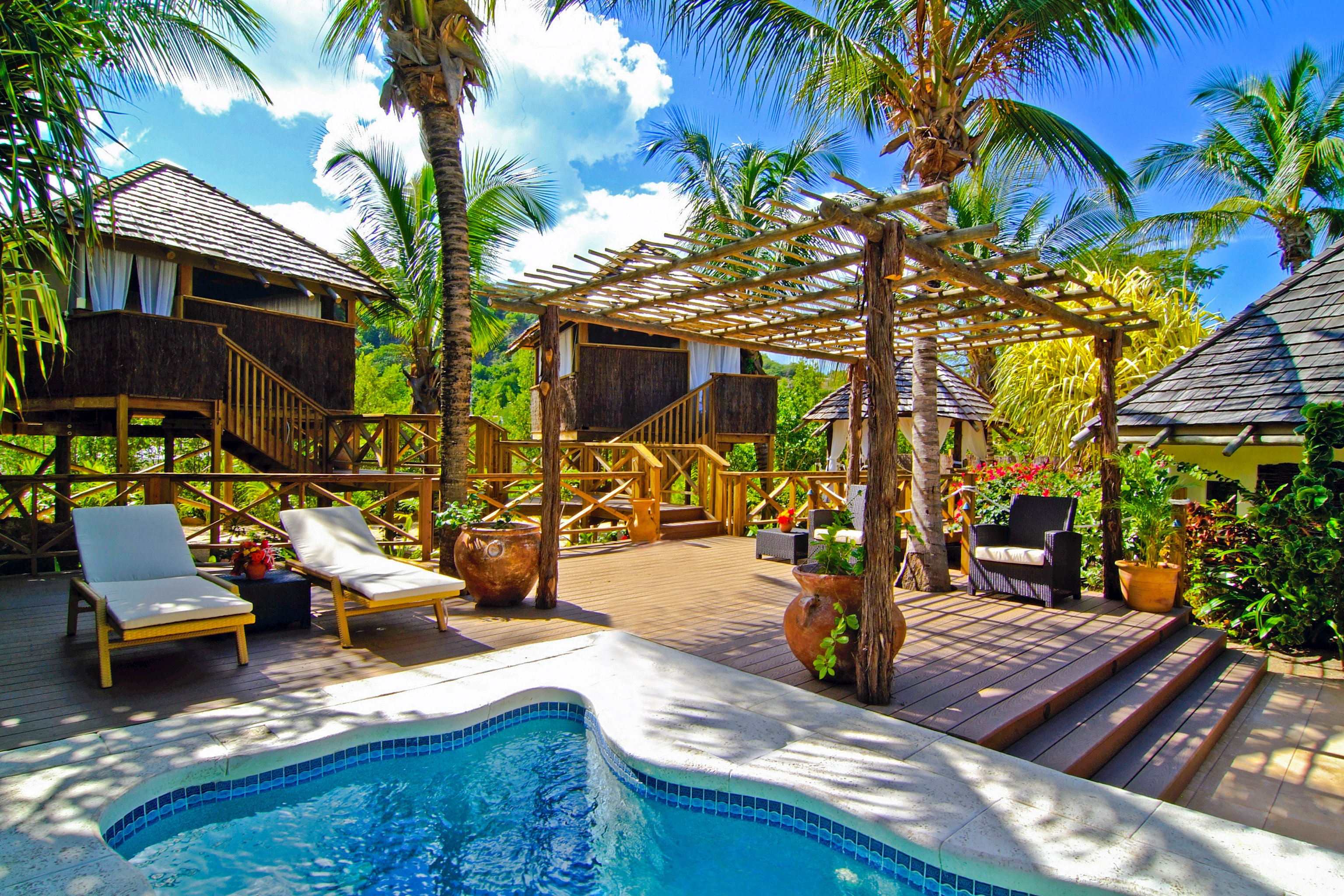 Adult-only All-inclusive Beachfront Luxury Play Pool Resort tree sky swimming pool leisure property caribbean backyard Villa home eco hotel tropics Water park
