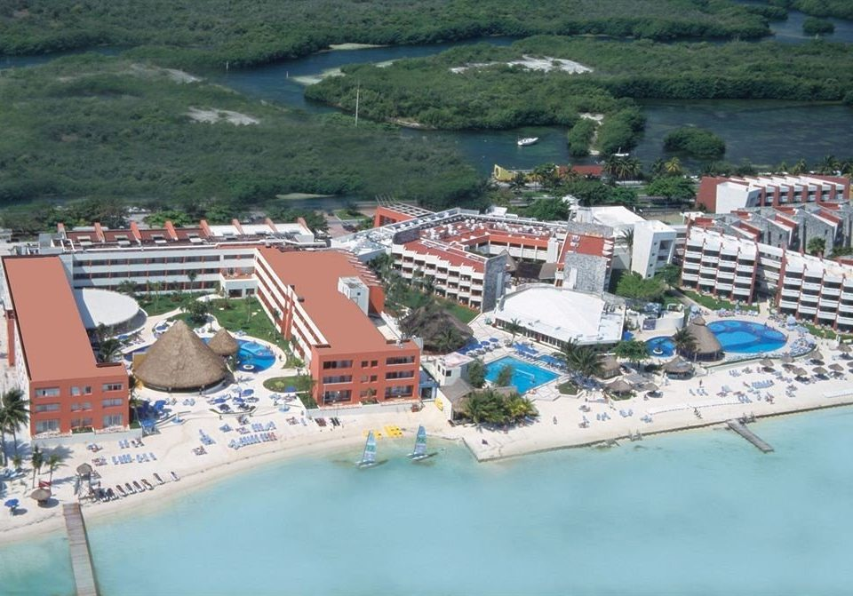 Adult-only All-inclusive Exterior Modern Ocean Pool Waterfront bird's eye view Nature aerial photography marina Town dock residential area port Resort Water park Coast amusement park Sea shore