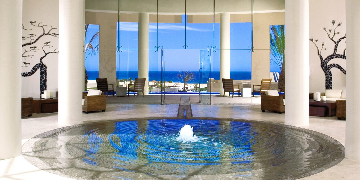 Adult-only All-inclusive Honeymoon Lobby Romance Romantic Scenic views Tropical Waterfront swimming pool property Pool glass modern art flooring Resort