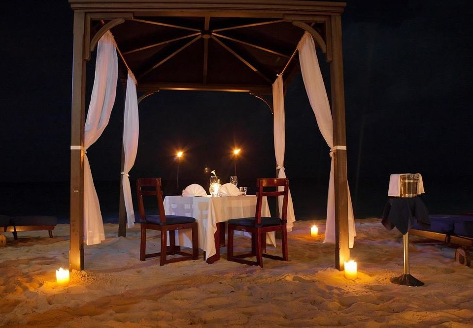Adult-only Bar Beach Beachfront Dining Drink Eat Romantic stage lighting musical theatre scenographer theatre