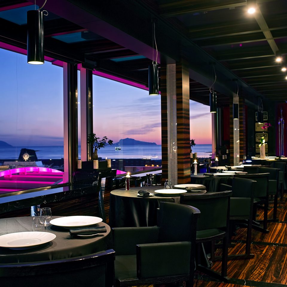 Adult-only Boutique Dining Drink Eat Modern Waterfront chair Bar lighting restaurant nightclub