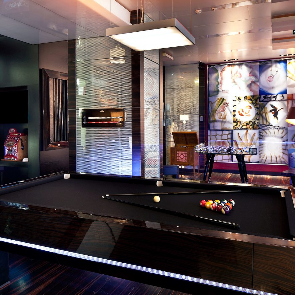 Adult-only Boutique Drink Lounge Modern Waterfront recreation room billiard room games Bar