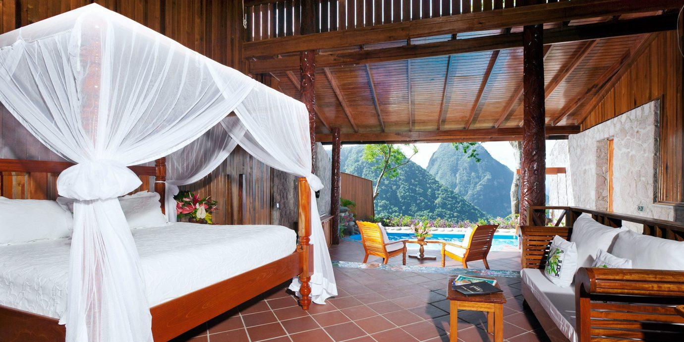 Adult-only Bedroom Honeymoon Hotels Luxury Luxury Travel Resort Romance property wooden Villa cottage Suite