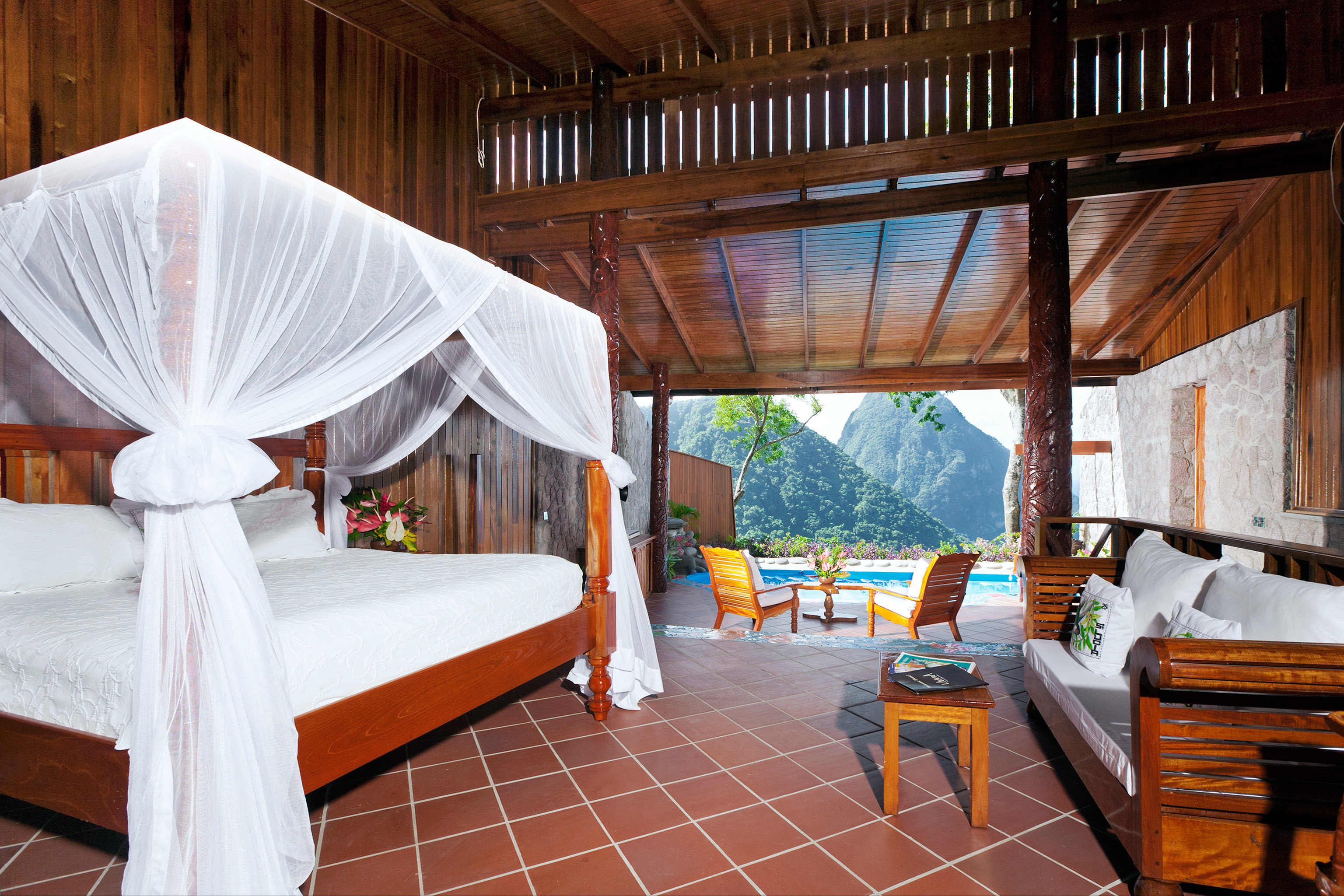 Adult-only Bedroom Honeymoon Hotels Luxury Luxury Travel Resort Romance property wooden Villa cottage Suite