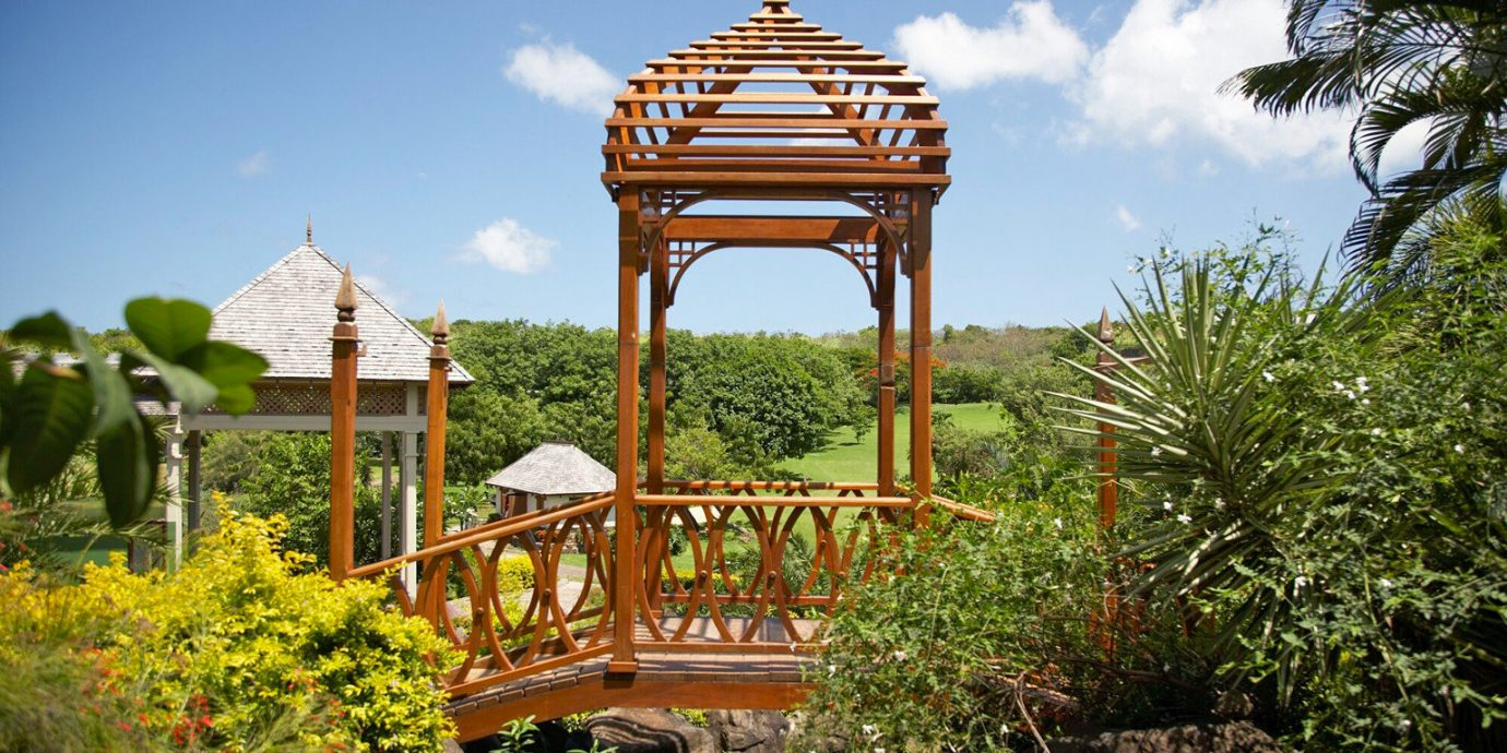 Adult-only Cultural Eco Grounds Island Outdoors Scenic views tree sky botany Garden gazebo outdoor structure Resort bushes lush