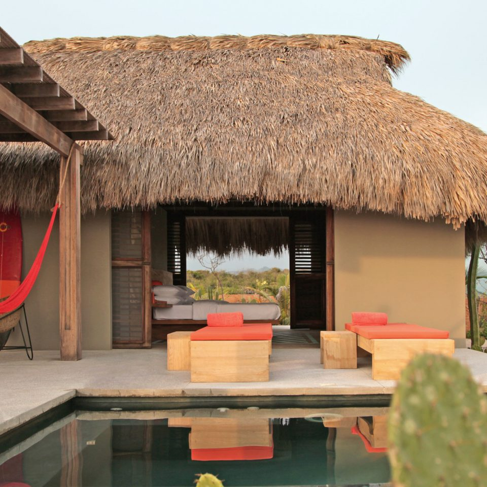 Adult-only Lounge Luxury Pool Scenic views Trip Ideas Villa house thatching home hut cottage roof farmhouse