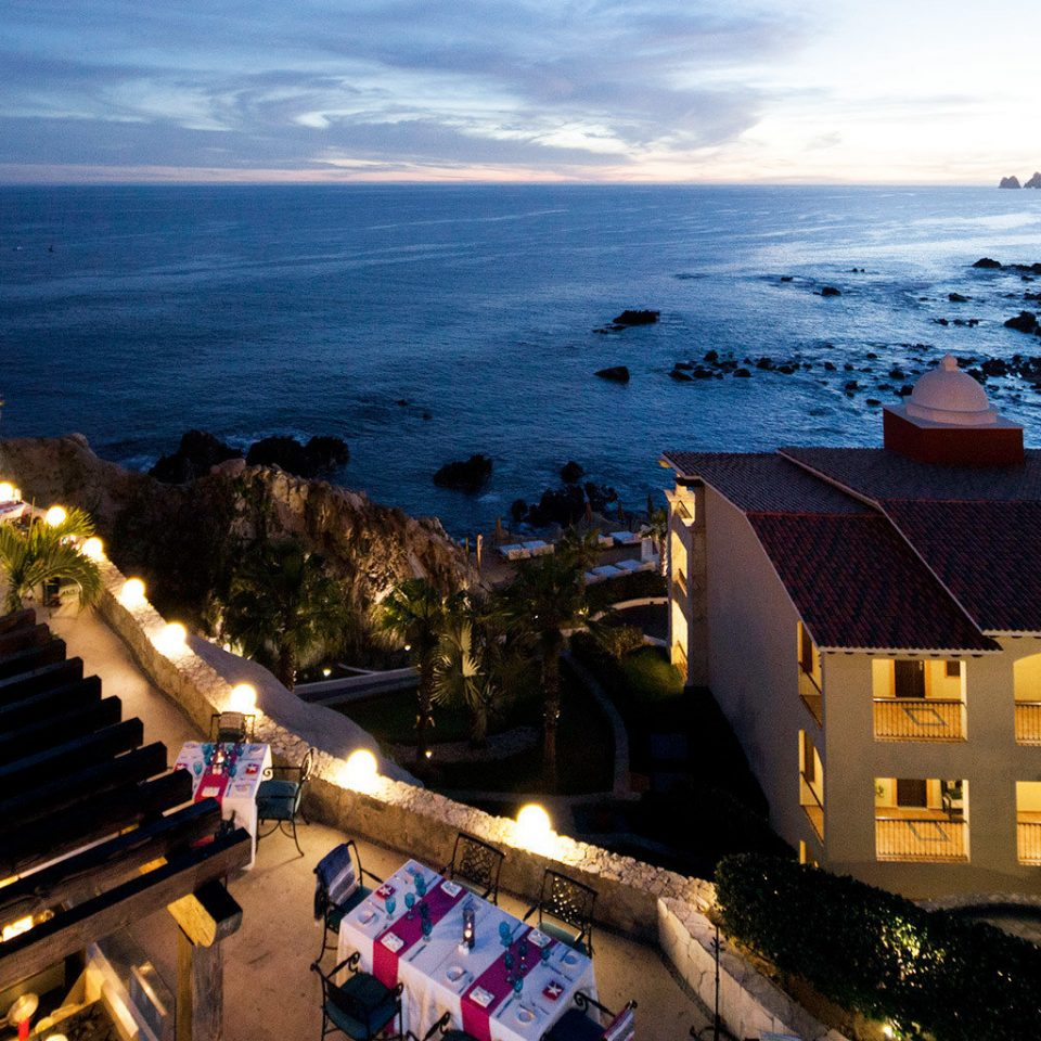 Adventure All-inclusive Architecture Beachfront Exterior Honeymoon Nature Ocean Romance sky Coast Sea evening Beach Resort dusk overlooking cape travel