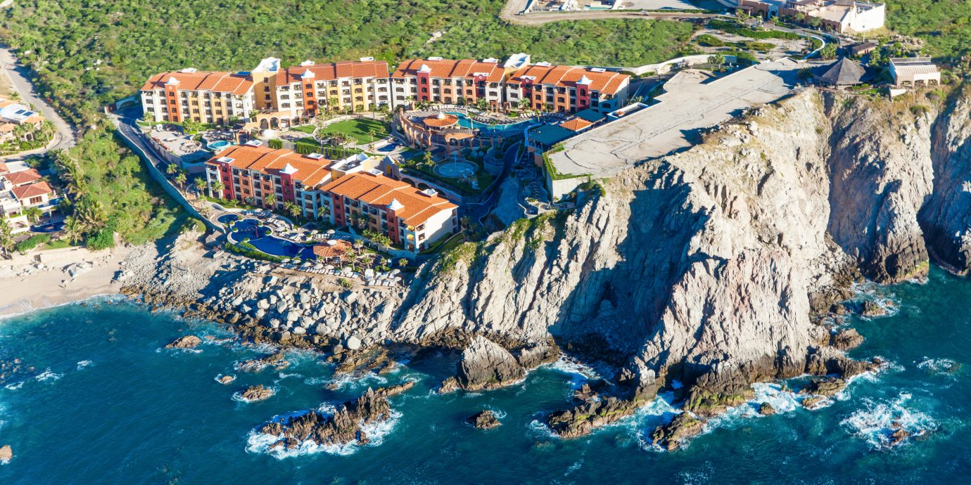 Adventure All-inclusive Architecture Beachfront Exterior Honeymoon Nature Ocean Romance aerial photography valley canyon Sea Coast terrain amusement park