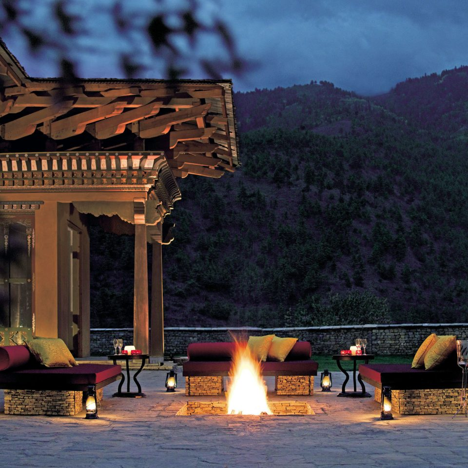 Adventure Architecture Cultural Fireplace Mountains Scenic views night evening screenshot