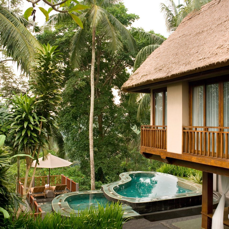 Adventure Balcony Cultural Deck Eco Grounds Jungle Outdoor Activities Outdoors Pool Resort Romance Villa Wellness tree property house cottage home backyard eco hotel swimming pool stone