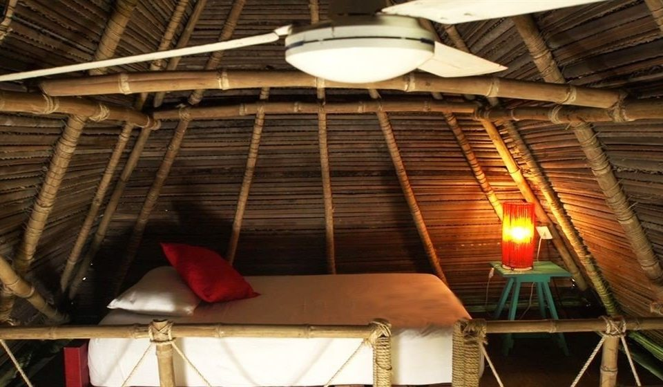 Adventure Bedroom Budget Eco Nature Outdoor Activities Outdoors Tropical wooden roof attic lighting