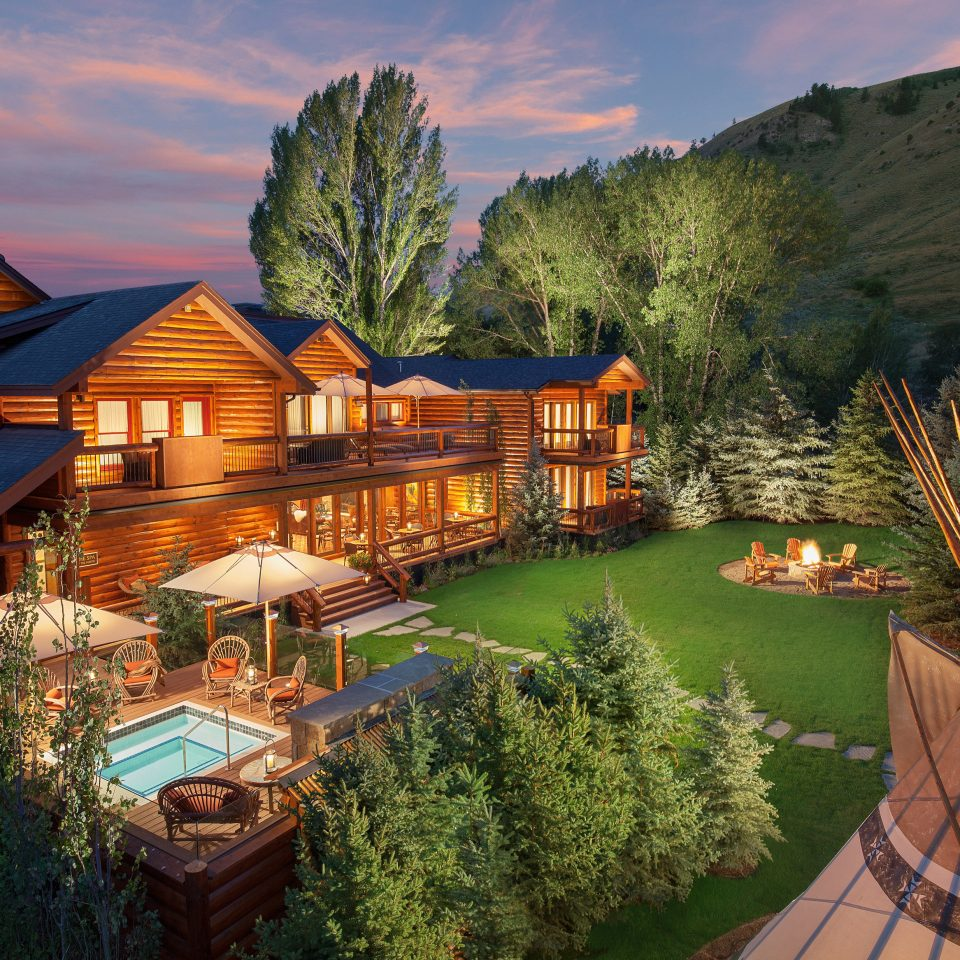 Adventure Budget Country Exterior Family Grounds Lodge Mountains Outdoor Activities Outdoors Pool Sunset Trip Ideas tree mountain property house Resort home mansion Villa Village lush surrounded hillside