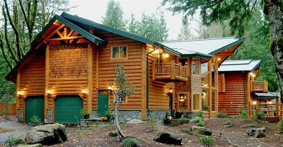 Adventure Buildings Cabin Exterior Forest Grounds Lodge Outdoors Rustic Sport Wellness tree house ground building log cabin hut home cottage Resort shack old Garden stone surrounded