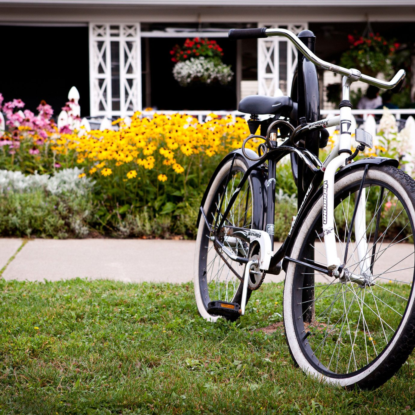 Adventure Exterior Fitness Grounds Outdoor Activities Wellness bicycle grass parked road bicycle flower vehicle land vehicle racing bicycle cyclo cross bicycle cycling wheel mountain bike sports equipment endurance sports road cycling bicycle racing cyclo cross rack bicycle rack