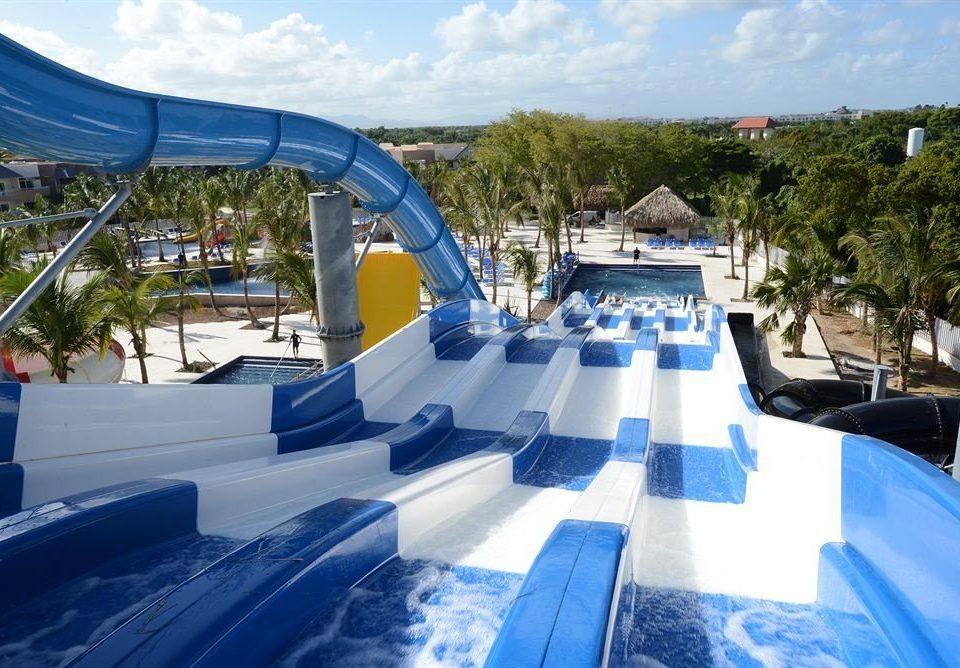 Adventure Family Play Pool Resort Tropical sky leisure swimming pool Water park transport amusement park vehicle marina park dock blue day