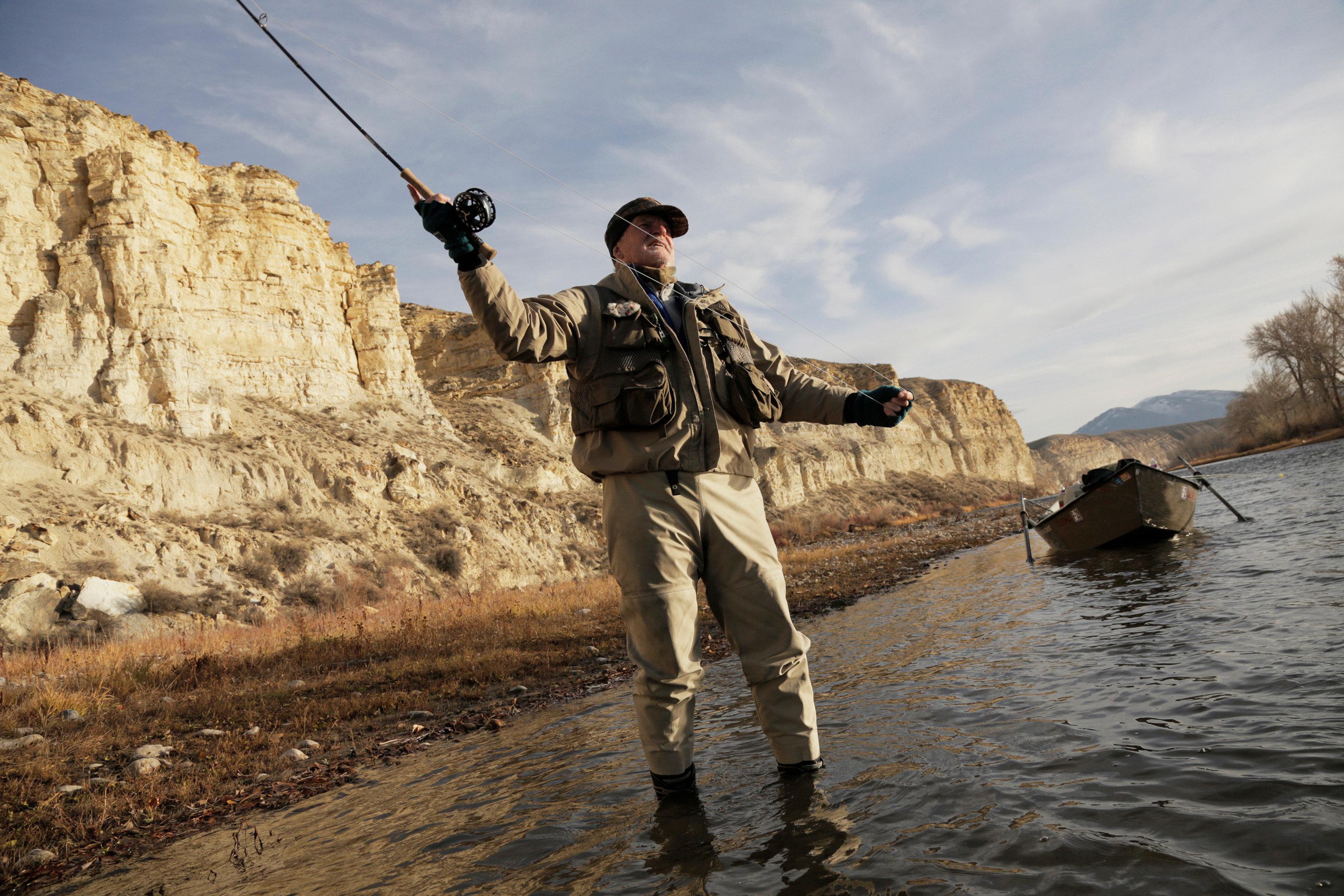 sky man Adventure recreational fishing geology