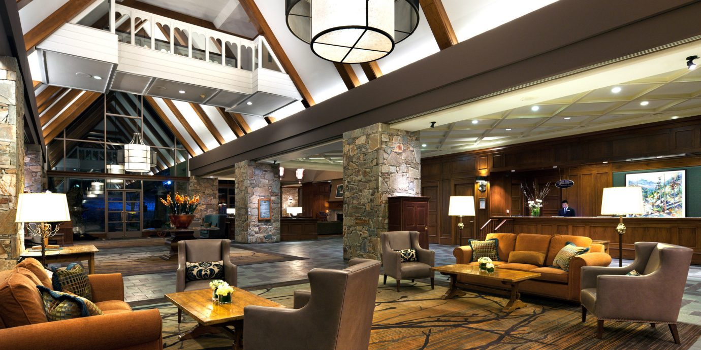 Adventure Lobby Rustic property home living room lighting restaurant loft condominium