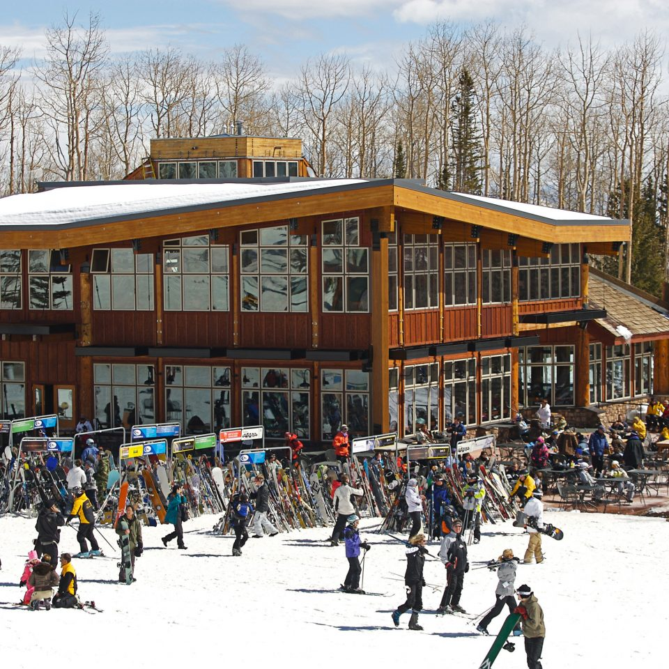 Adventure Lodge Mountains Nature Outdoor Activities Outdoors Play Scenic views Ski Sport snow tree sky skiing group Winter ski equipment winter sport ice rink Resort piste cross country skiing sports equipment