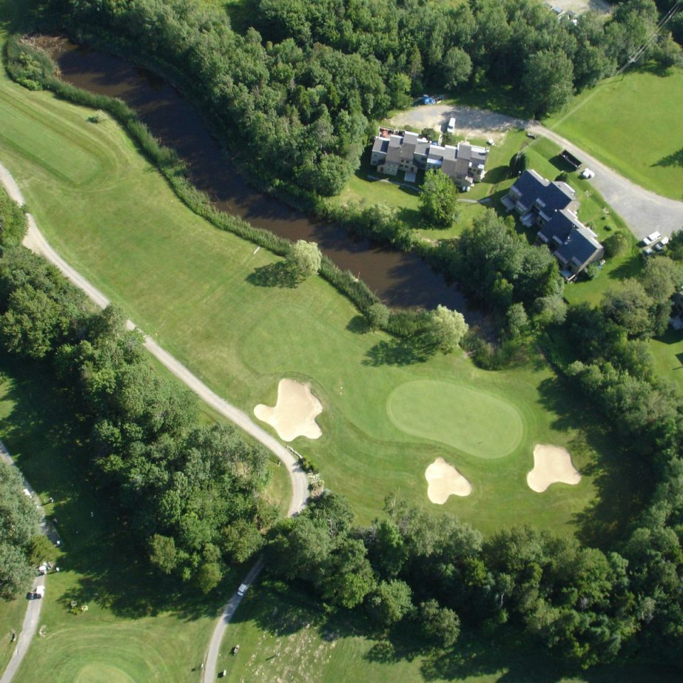 tree grass structure bird's eye view aerial photography sport venue golf course golf club mansion lush plant hillside